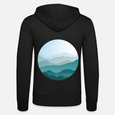 Landscape in cartoon style - landscape - Unisex Zip Hoodie