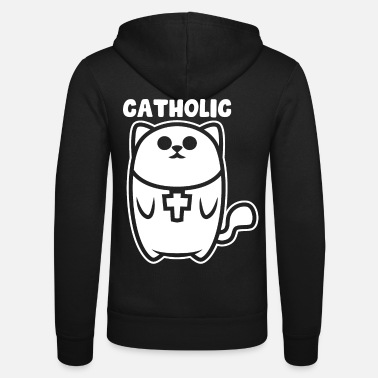 Catholic Catholic cat - Unisex Zip Hoodie