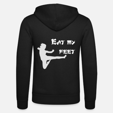 Drop Kick Eat my Feet, Karate, Martial Arts, Sports, Cool, Japan - Unisex Zip Hoodie