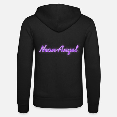 Sign Neon Angel purple - Unisex Zip Hoodie