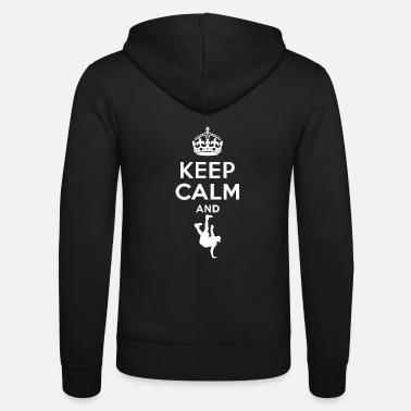 Breakdance Keep Calm - breakdance - Felpa con zip unisex