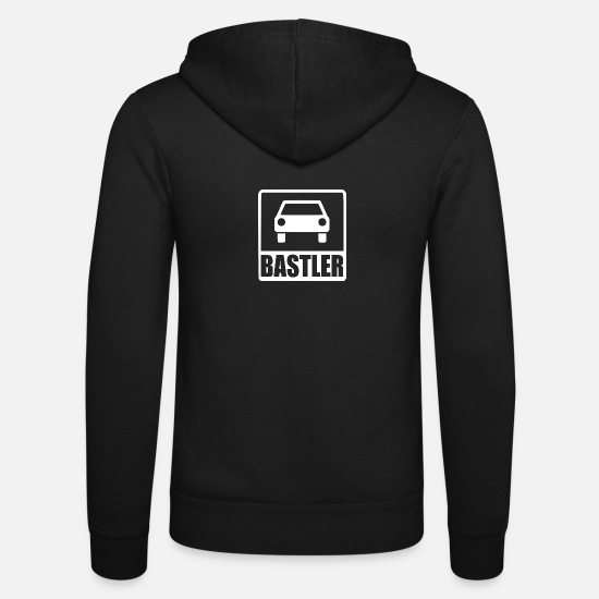 Birthday Hoodies & Sweatshirts - Car tinker white - Unisex Zip Hoodie black