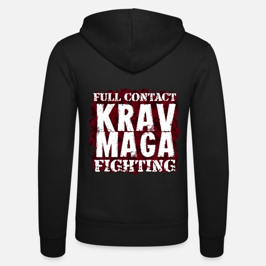 Martial Arts Hoodies & Sweatshirts - Krav Maga Melee contact fight gift - Unisex Zip Hoodie black