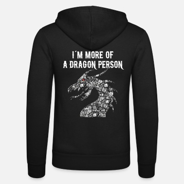 DICE DRAGON dragon with RPG cube RPG - Unisex Hooded Jacket by Bella + Canvas