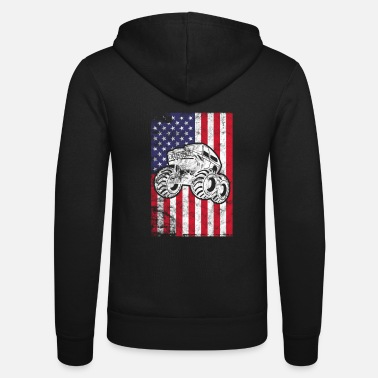 Monster Truck Monster Truck USA Auto Truck Monster Motorsport - Unisex Zip Hoodie