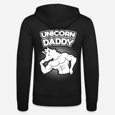Héroe Unicornio Daddy Muscle Dadacorn Workout Kids Father - Chaqueta con capucha unisex