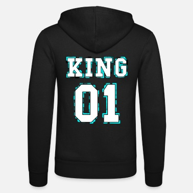 King King - Queen Pärchendesign - Unisex Kapuzenjacke