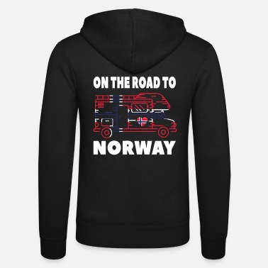 Norway On the road to Norway Camper Camping Norway - Unisex Zip Hoodie