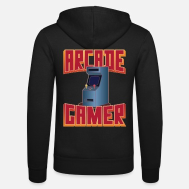 Retro 80's Arcade Gamer, Slot Machines 8-bit - Unisex Zip Hoodie