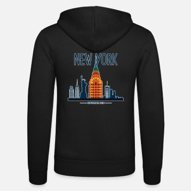 State New York Skyline Graphic - Unisex Zip Hoodie