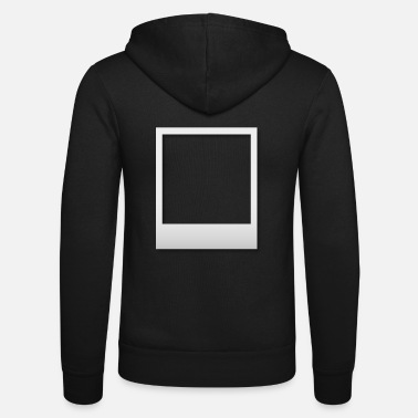 Polaroid frame with shadow - Unisex Zip Hoodie