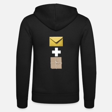 Composite Delivery Mail and parcel courier. Workshirt illustration - Unisex Zip Hoodie