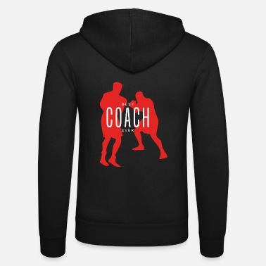 Coach Best Boxing Coach Ever Boxer Gift - Unisex Zip Hoodie