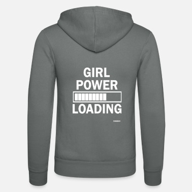 Girl Girl Power Powergirl Girl Power Power Woman Gift - Unisex Zip Hoodie