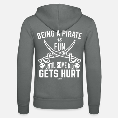 Pirate Ship Pirate seafarer treasure hunt child - Unisex Zip Hoodie
