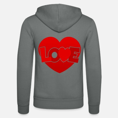 Love With Heart Love with heart - Unisex Zip Hoodie