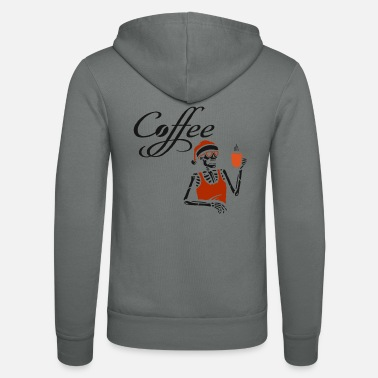 Espresso Coffee cup Christmas Coffee Skeleton Cafe - Unisex Zip Hoodie
