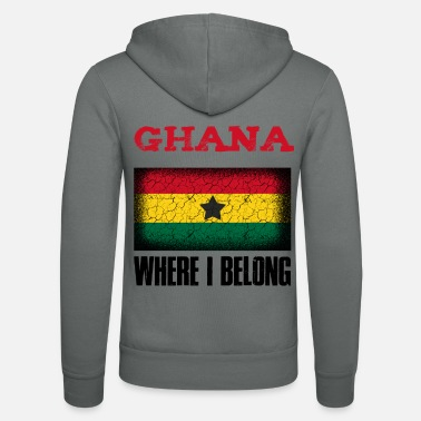 Kumasi Ghana Where I Belong | Accra Kumasi gift idea - Unisex Zip Hoodie