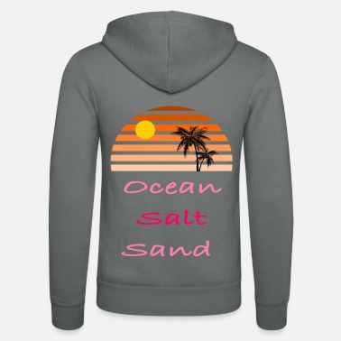 Palm Trees Ocean Salt Sand - summer - Unisex Zip Hoodie
