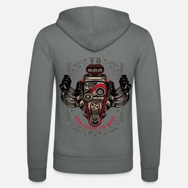 V8 hot rod V8 - Unisex Bella + Canvas -hupputakki
