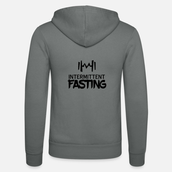 Remove Hoodies & Sweatshirts - Diet interval interval fasting Fasting fasting - Unisex Zip Hoodie grey