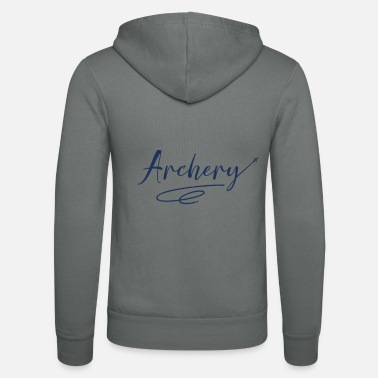 Long Bow bow and arrow - Unisex Zip Hoodie