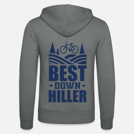 Gift Idea Hoodies & Sweatshirts - Downhill - Unisex Zip Hoodie grey