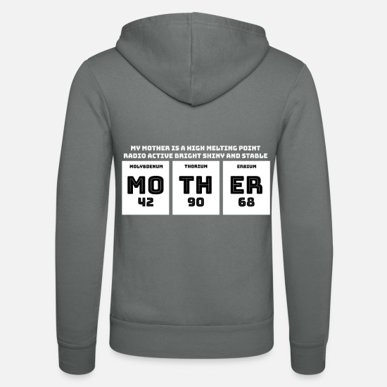 Chemistry Hoodies & Sweatshirts - Mother periodic table motif - Unisex Zip Hoodie grey