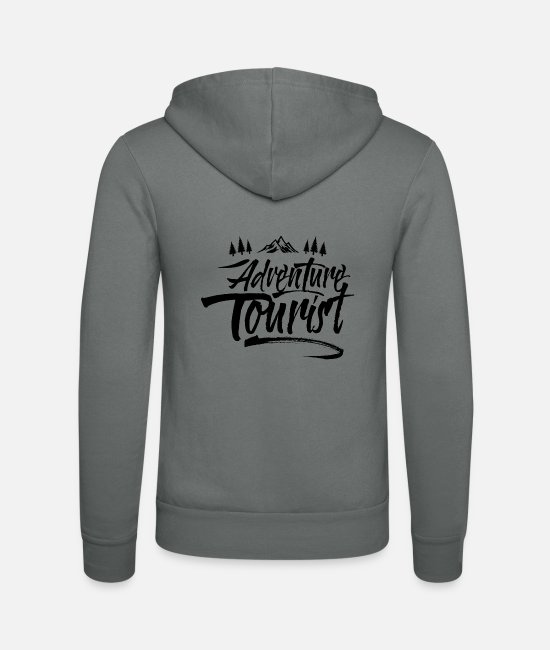Adventure Hoodies & Sweatshirts - Adventure tourist adventurer - Unisex Zip Hoodie grey