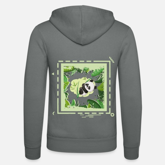 Birthday Hoodies & Sweatshirts - 24 jungle panda - Unisex Zip Hoodie grey