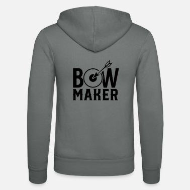 Teenager Craft bows build bows make bow makers team - Unisex Zip Hoodie