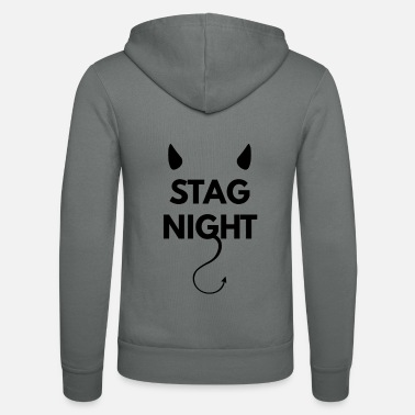Bachelor Bachelor party on stag night - Unisex Zip Hoodie