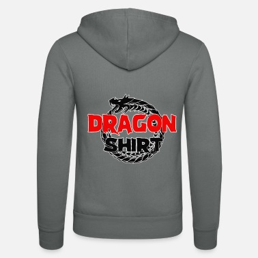 Tribal Dragon, Tribal dragon, Chinese dragon, Dragon - Unisex Zip Hoodie