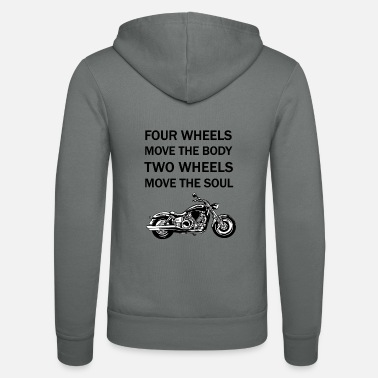 Four-wheel Four Wheels Move the Body - Unisex Zip Hoodie
