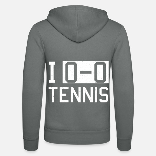 Tennis Hoodies & Sweatshirts - Tennis tennis player tennis court - Unisex Zip Hoodie grey