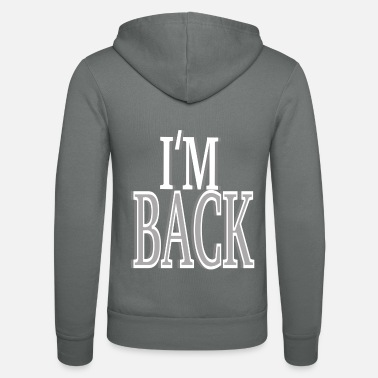 Back-to-back in the back - Unisex Hooded Jacket by Bella + Canvas