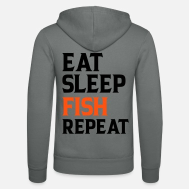 Soirée Eat Sleep Fish Repeat - Veste à capuche unisexe