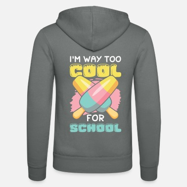 Bold Eis ice cream funny saying eat - Unisex Zip Hoodie