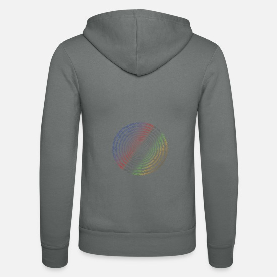 Trend Hoodies & Sweatshirts - Round stained - Unisex Zip Hoodie grey