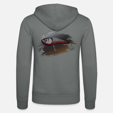 Predatory Fish Wobbler - predatory fish fishing - Unisex Zip Hoodie