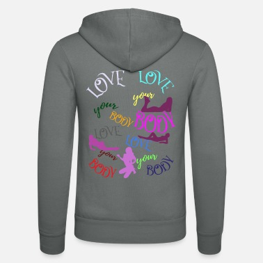 Erotic Love your body woman - Unisex Zip Hoodie