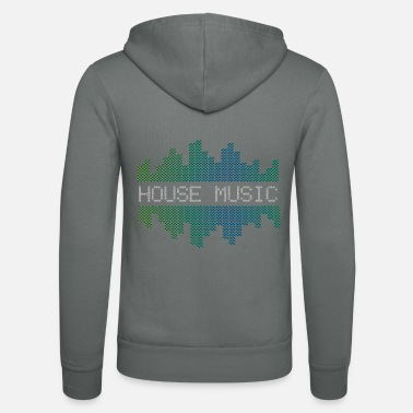 Deadmau5 Progressive House Music Electronic DJ Waveform - Felpa con zip unisex