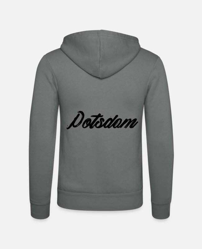 Uni Hoodies & Sweatshirts - Potsdam my hometown - Unisex Zip Hoodie grey