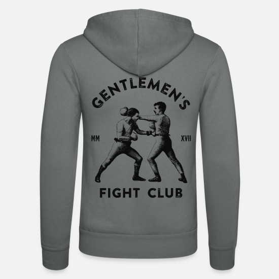 Gentleman Sweat-shirts - Gentleman's Fight Club - Veste à capuche unisexe gris