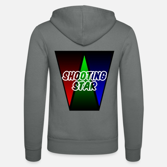 Gift Idea Hoodies & Sweatshirts - SHOOTING STAR - Unisex Zip Hoodie grey