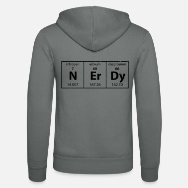 Periodic Table Nerdy Periodic Table grunge - Unisex Zip Hoodie