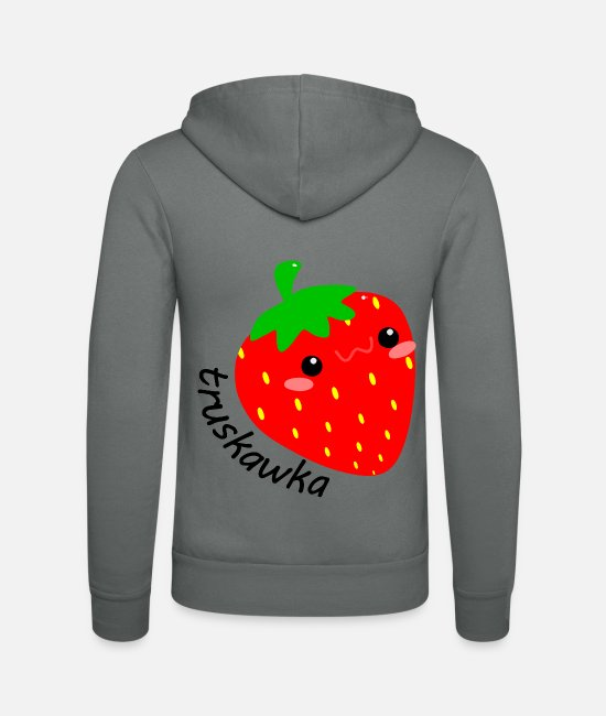Small Hoodies & Sweatshirts - Strawberry, Truskawka - Unisex Zip Hoodie grey