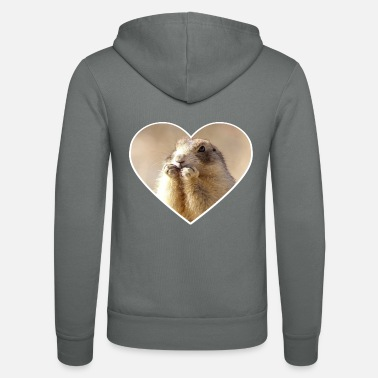 Rodent rodent rodents heart cute - Unisex Zip Hoodie