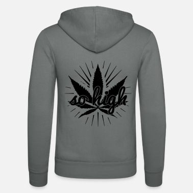 High Times so high - Felpa con zip unisex