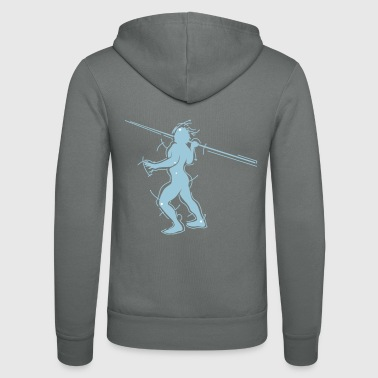 javelin thrower - Unisex Hooded Jacket by Bella + Canvas